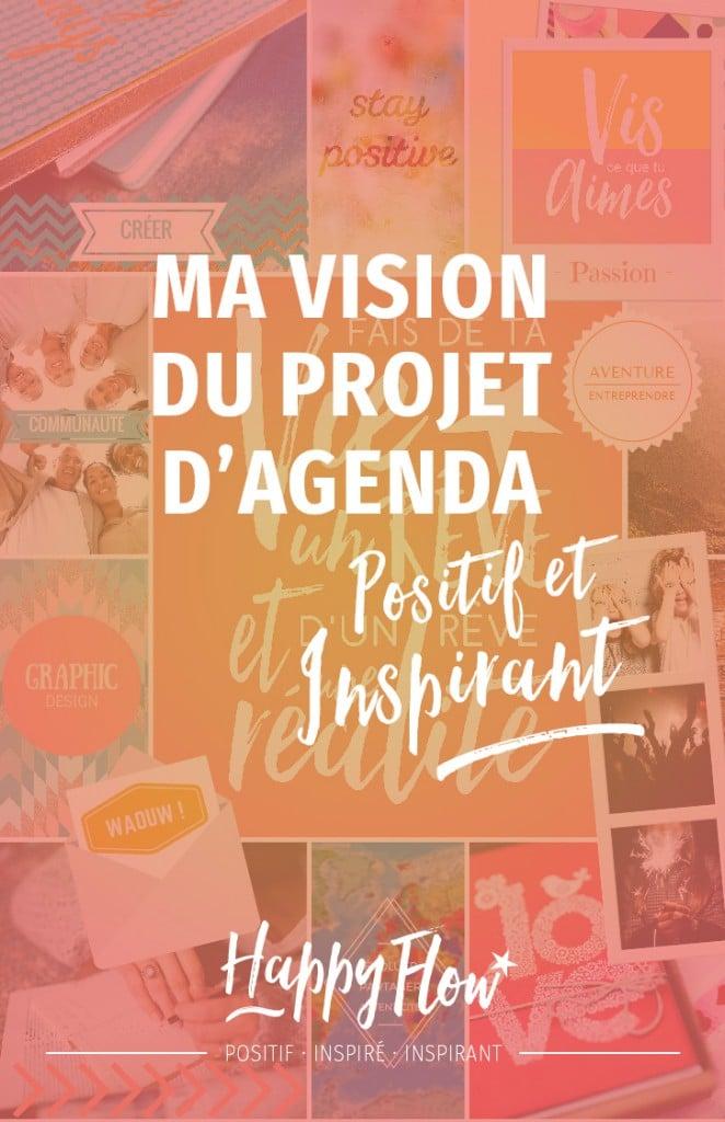 tableau de visualisation pour le projet d'agenda idéal lancé sur le blog www.happy-flow.fr