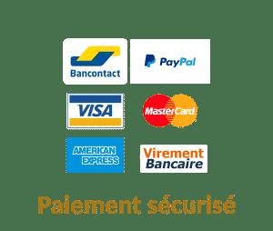 HappyFlow paiement sécurisé – Paypal, bancontact, Mastercard, carte Visa, American Express et virement bancaire