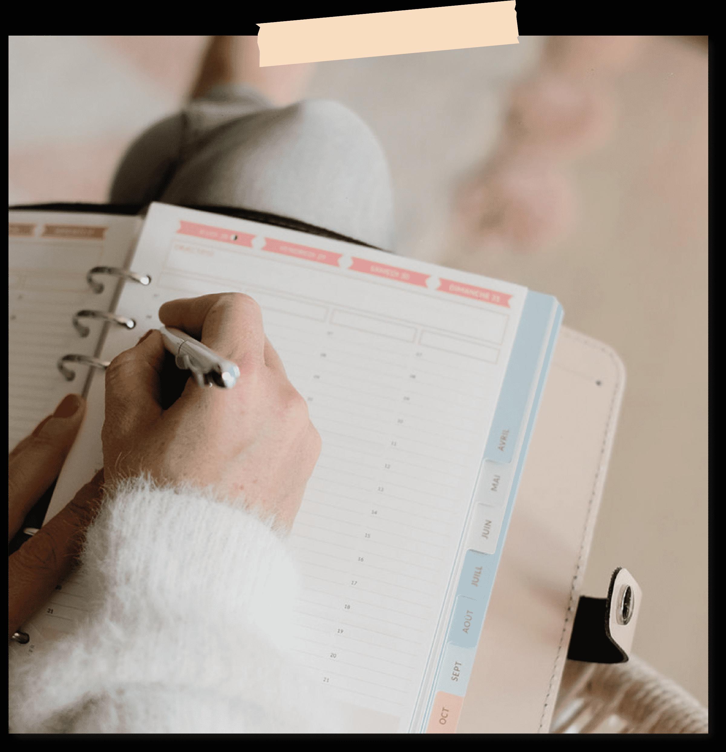 Planner Filofax A5 Nude ace le semainier vertical de l'agenda pour une vie WouaW de HappyFlow