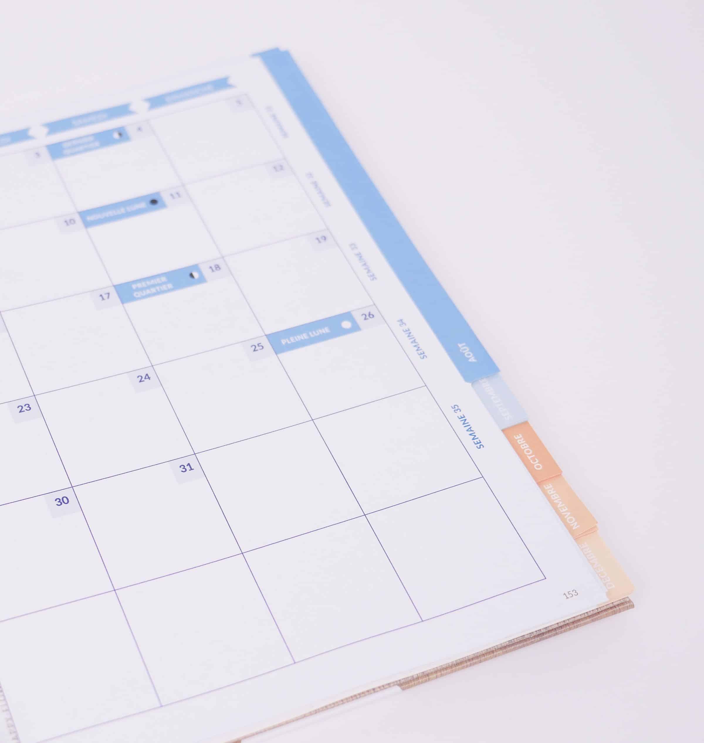 Retrouvez les lunes dans l'agenda de HappyFlow